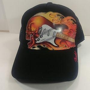 NWOT Fender Guitar Printed Trucker Cap 🔥Rare